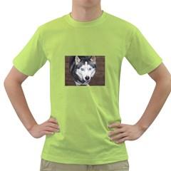 Siberian Husky Blue Eyed Green T-Shirt