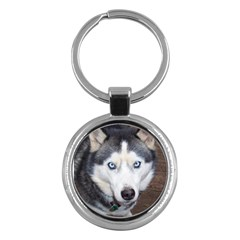 Siberian Husky Blue Eyed Key Chains (Round)