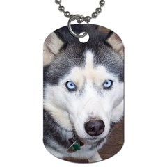 Siberian Husky Blue Eyed Dog Tag (One Side)