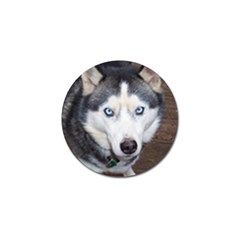 Siberian Husky Blue Eyed Golf Ball Marker