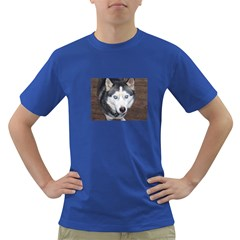 Siberian Husky Blue Eyed Dark T-Shirt