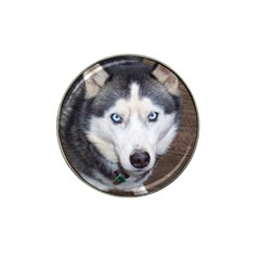 Siberian Husky Blue Eyed Hat Clip Ball Marker (10 pack)