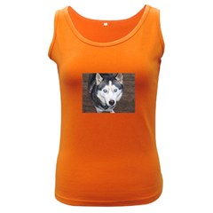 Siberian Husky Blue Eyed Women s Dark Tank Top
