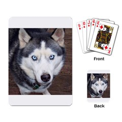 Siberian Husky Blue Eyed Playing Card