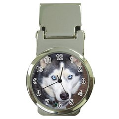 Siberian Husky Blue Eyed Money Clip Watches