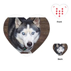 Siberian Husky Blue Eyed Playing Cards (Heart)