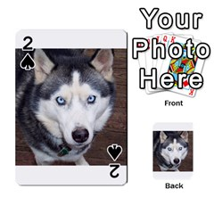 Siberian Husky Blue Eyed Playing Cards 54 Designs