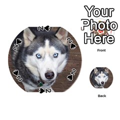 Siberian Husky Blue Eyed Playing Cards 54 (Round)