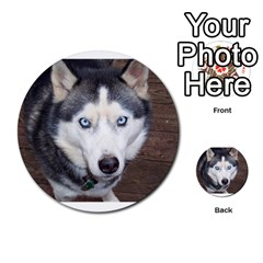 Siberian Husky Blue Eyed Multi-purpose Cards (Round)
