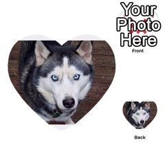 Siberian Husky Blue Eyed Multi-purpose Cards (Heart)