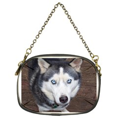 Siberian Husky Blue Eyed Chain Purses (One Side)