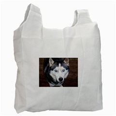 Siberian Husky Blue Eyed Recycle Bag (One Side)