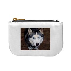 Siberian Husky Blue Eyed Mini Coin Purses