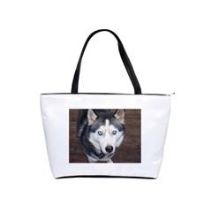 Siberian Husky Blue Eyed Shoulder Handbags