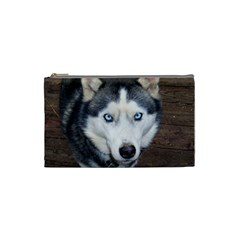Siberian Husky Blue Eyed Cosmetic Bag (Small)