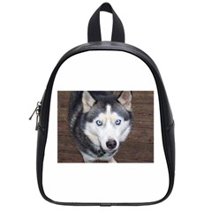 Siberian Husky Blue Eyed School Bags (Small)