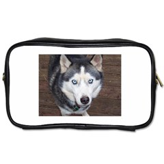 Siberian Husky Blue Eyed Toiletries Bags 2-Side