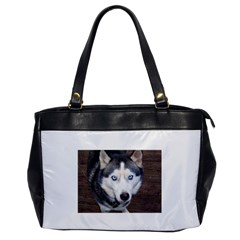 Siberian Husky Blue Eyed Office Handbags
