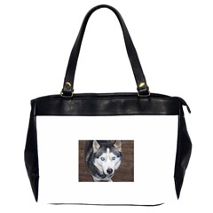 Siberian Husky Blue Eyed Office Handbags (2 Sides)