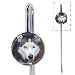 Siberian Husky Blue Eyed Book Mark