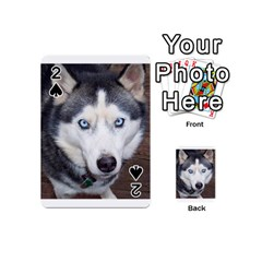 Siberian Husky Blue Eyed Playing Cards 54 (Mini)