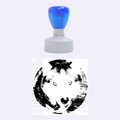 Siberian Husky Blue Eyed Rubber Round Stamps (Medium)