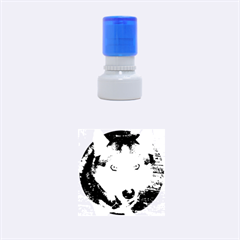 Siberian Husky Blue Eyed Rubber Round Stamps (Small)