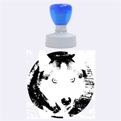 Siberian Husky Blue Eyed Rubber Round Stamps (Large)