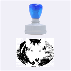 Siberian Husky Blue Eyed Rubber Oval Stamps