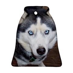 Siberian Husky Blue Eyed Bell Ornament (2 Sides)