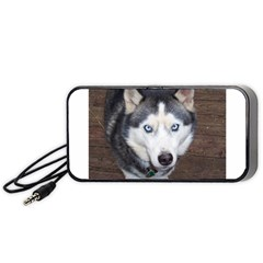 Siberian Husky Blue Eyed Portable Speaker (Black)