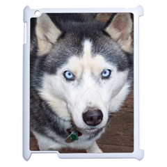 Siberian Husky Blue Eyed Apple iPad 2 Case (White)
