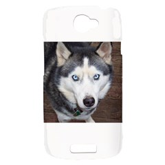 Siberian Husky Blue Eyed HTC One S Hardshell Case