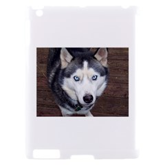 Siberian Husky Blue Eyed Apple iPad 2 Hardshell Case (Compatible with Smart Cover)