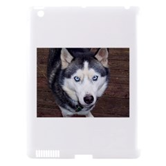 Siberian Husky Blue Eyed Apple iPad 3/4 Hardshell Case (Compatible with Smart Cover)