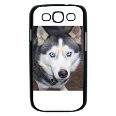 Siberian Husky Blue Eyed Samsung Galaxy S III Case (Black)