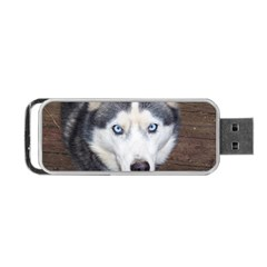 Siberian Husky Blue Eyed Portable USB Flash (Two Sides)