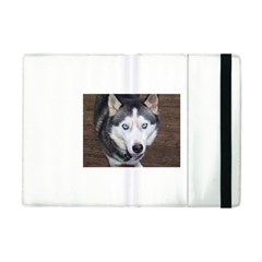 Siberian Husky Blue Eyed Apple iPad Mini Flip Case