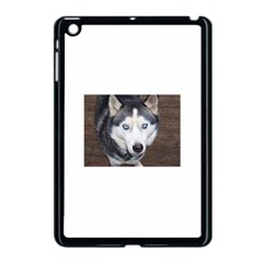 Siberian Husky Blue Eyed Apple iPad Mini Case (Black)