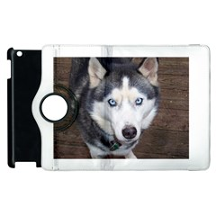 Siberian Husky Blue Eyed Apple iPad 3/4 Flip 360 Case