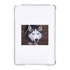Siberian Husky Blue Eyed Apple iPad Mini Hardshell Case (Compatible with Smart Cover)