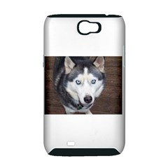 Siberian Husky Blue Eyed Samsung Galaxy Note 2 Hardshell Case (PC+Silicone)