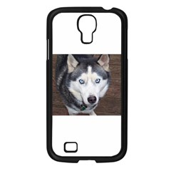 Siberian Husky Blue Eyed Samsung Galaxy S4 I9500/ I9505 Case (Black)