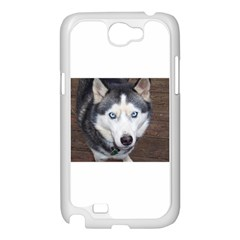 Siberian Husky Blue Eyed Samsung Galaxy Note 2 Case (White)