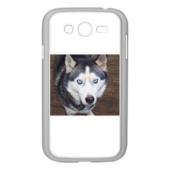 Siberian Husky Blue Eyed Samsung Galaxy Grand DUOS I9082 Case (White)