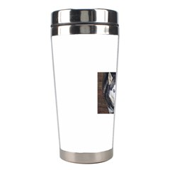 Siberian Husky Blue Eyed Stainless Steel Travel Tumblers