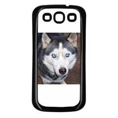 Siberian Husky Blue Eyed Samsung Galaxy S3 Back Case (Black)