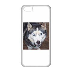 Siberian Husky Blue Eyed Apple iPhone 5C Seamless Case (White)