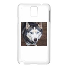 Siberian Husky Blue Eyed Samsung Galaxy Note 3 N9005 Case (White)