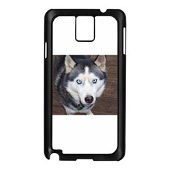 Siberian Husky Blue Eyed Samsung Galaxy Note 3 N9005 Case (Black)